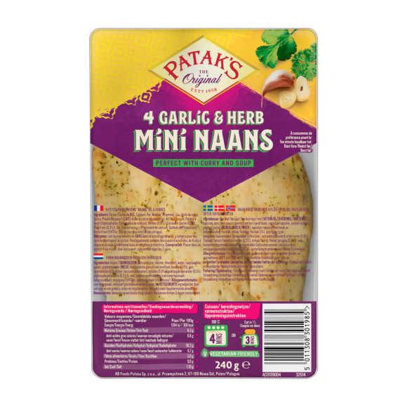 Patak's Mini naanbrood knoflook koriander product photo