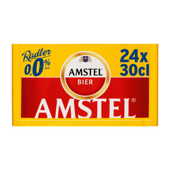 Amstel Radler 0.0 bier citroen fles 24x30cl krat product photo