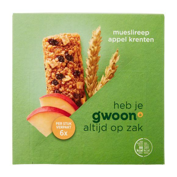 g'woon Mueslireep appel krenten product photo