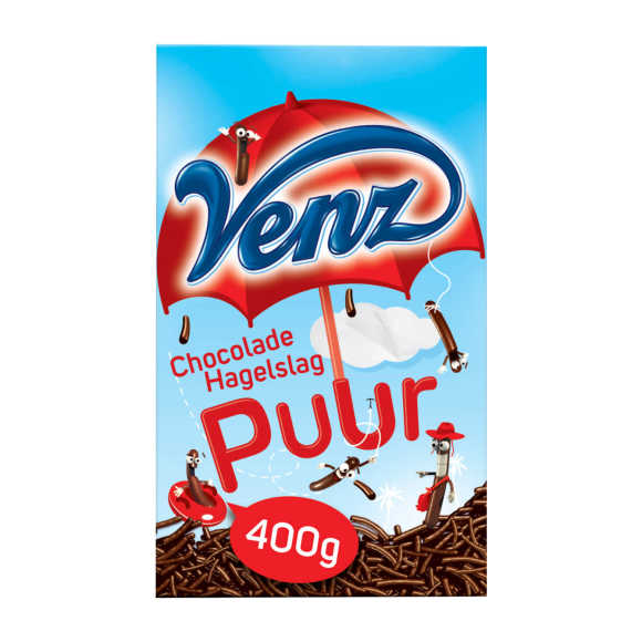 Venz Chocoladehagel puur product photo