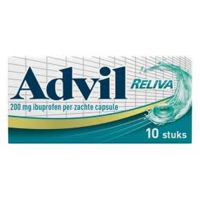 Advil reliva liquid-Caps 200 mg voor pijn en koorts product photo