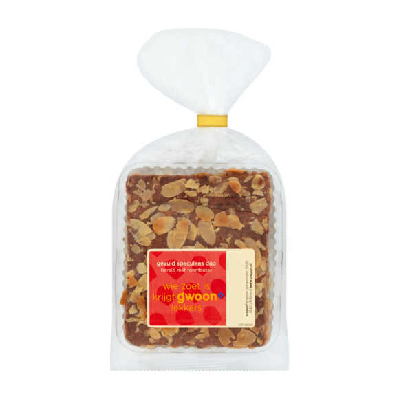 g'woon Roomboter gevuld speculaas duo product photo