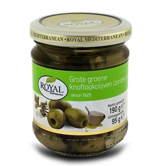 Royal Olijven groen knoflook zonder pit product photo