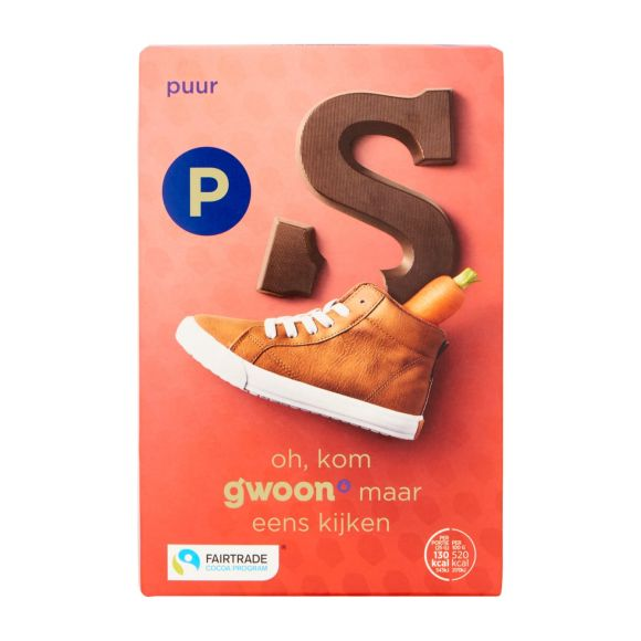 g'woon Chocoladeletter puur product photo