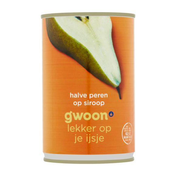 g'woon Halve peren op siroop product photo