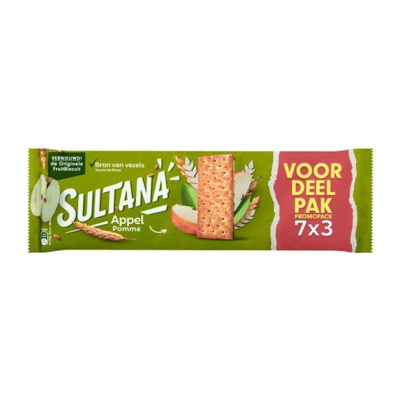 Sultana FruitBiscuit Appel Voordeelpak 7 x 3 stuks product photo