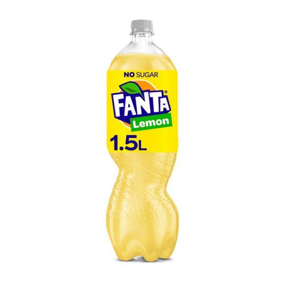 Fanta Zero sugar lemon product photo