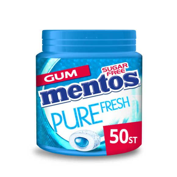 Mentos Gum pure fresh freshmint pot 50 stuks product photo