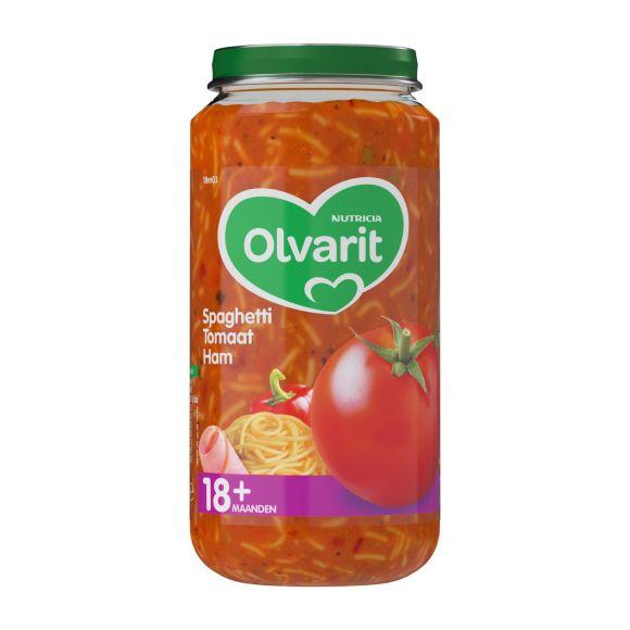 Olvarit Spaghetti tomaat en ham 18+ maanden product photo