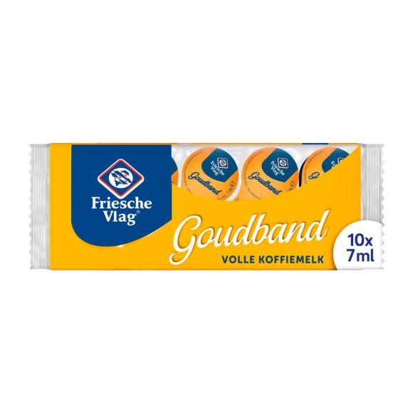 Friesche Vlag Goudband Koffiemelk 10 x 7 ml Multi-pack product photo
