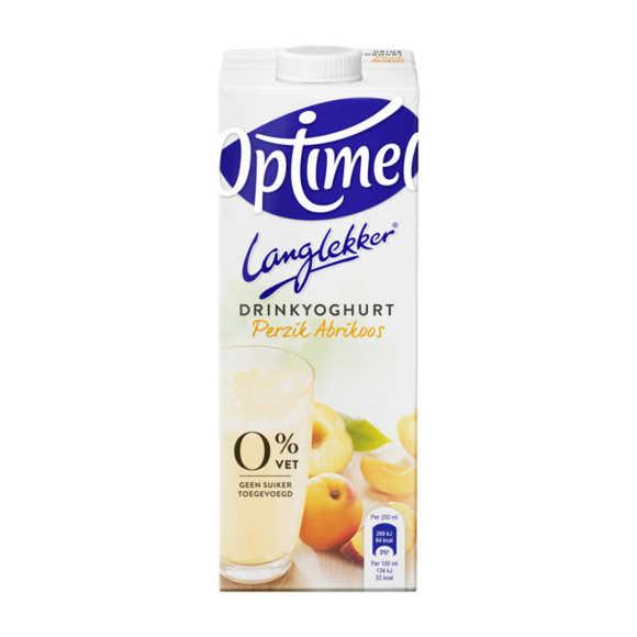 Optimel Langlekker drinkyoghurt perzik abrikoos product photo