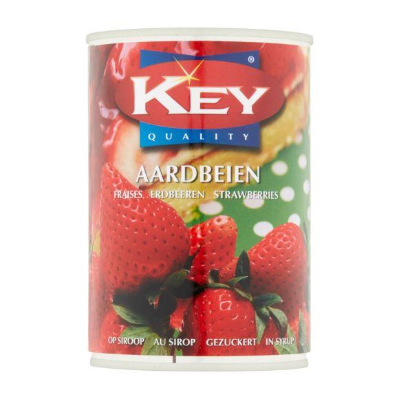 Key Key aardbeien op siroop product photo