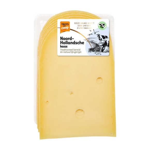 Trots van Coop Noord-Hollandsche extra belegen 48+ kaas plakken product photo