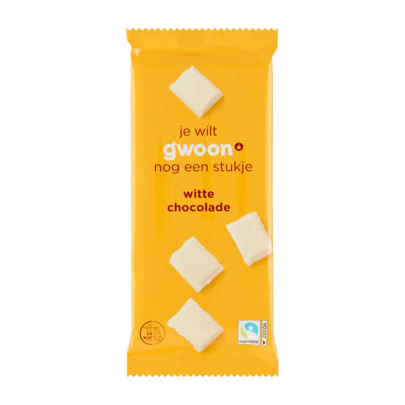 g'woon Tablet wit chocolade product photo