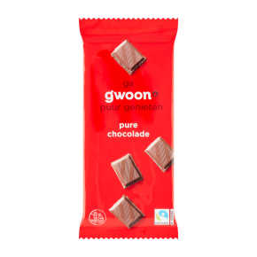 g'woon Tablet puur chocolade product photo