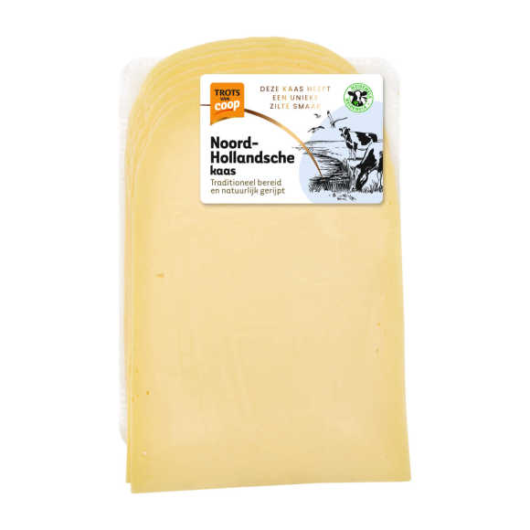 Trots van Coop Noord-Hollandsche jong belegen 48+ kaas plakken product photo