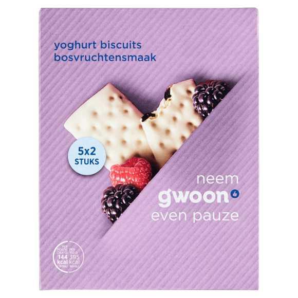 g'woon Yoghurt biscuit bosvruchten product photo