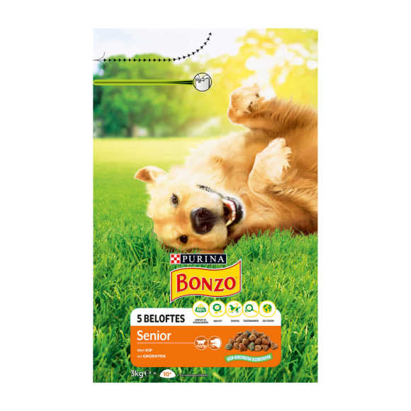 PURINA® Bonzo® Senior met Kip en Groente 3kg product photo