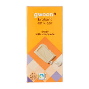 g'woon Crispy Witte Chocolade 200 g product photo