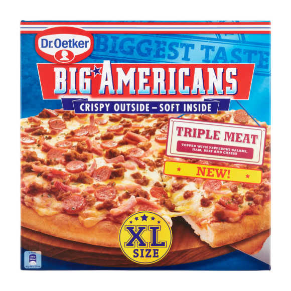 Dr. Oetker Big American xl triple meat product photo