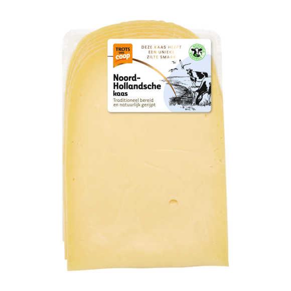 Trots van Coop Noord-Hollandsche romig jonge 48+ kaas plakken product photo
