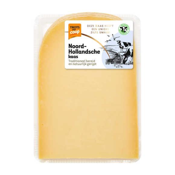 Trots van Coop Noord-Hollandsche oud 48+ kaas plakken product photo