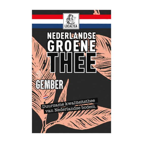 Localtea Nederlandse Groene Thee Gember 10 x 1,8 g product photo