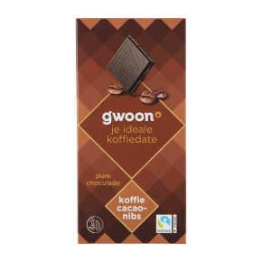g'woon Tablet puur café noir chocolade product photo