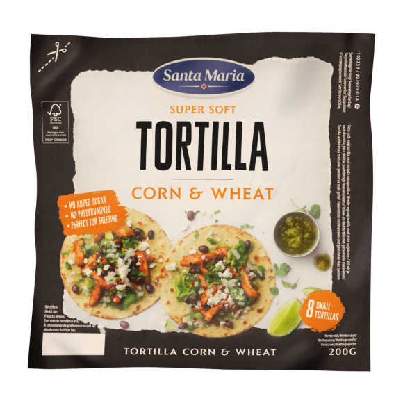 Santa Maria Tortilla wraps corn & wheat product photo