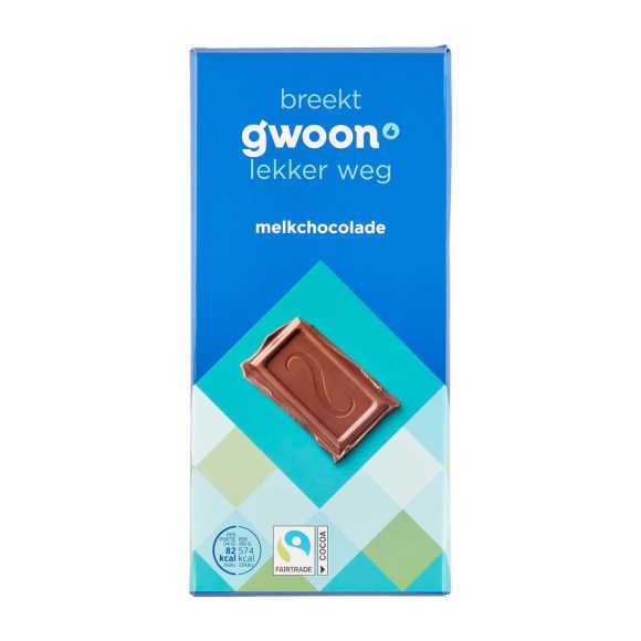 g'woon Melkchocolade 200 g product photo