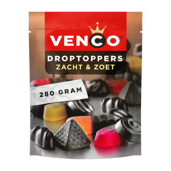 Venco Droptoppers zacht en zoet product photo