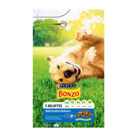 PURINA® Bonzo® Menubrokken Kip 3kg product photo