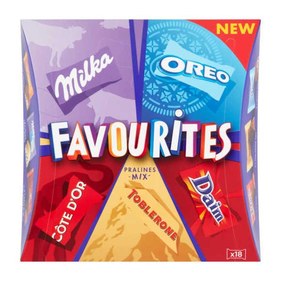 Milka Favourites pralines mix product photo