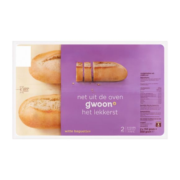 g'woon Baguettes wit product photo