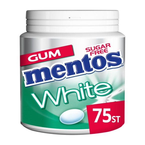 Mentos Gum white green mint pot 75 stuks product photo