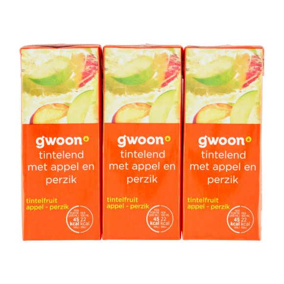 g'woon Tintelfruit appel perzik pak 6 x 20 cl product photo