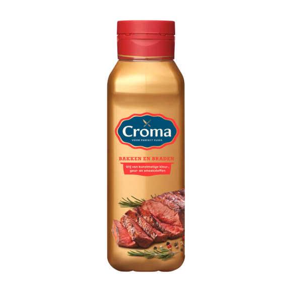Croma Vloeibare bakboter voor bakken en braden fles product photo