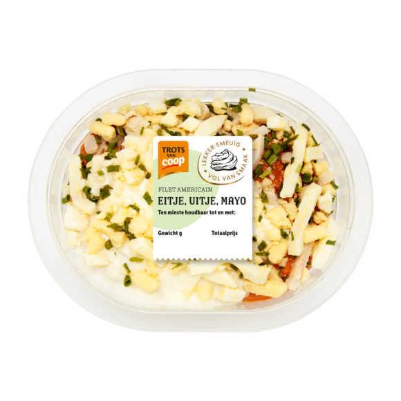 Trots van Coop filet americain ei, ui, mayo product photo
