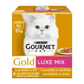 Gourmet Gold Luxe Mix Nat Kattenvoer 8 x 85 g product photo