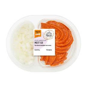 Trots van Coop filet americain met ui product photo