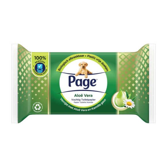 Page Vochtig toiletpapier aloe vera product photo