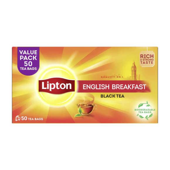 Lipton Thee English Breakfast 50 Stuks product photo