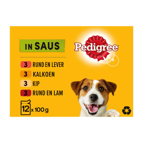 Pedigree Adult selection in saus hondenvoer product photo