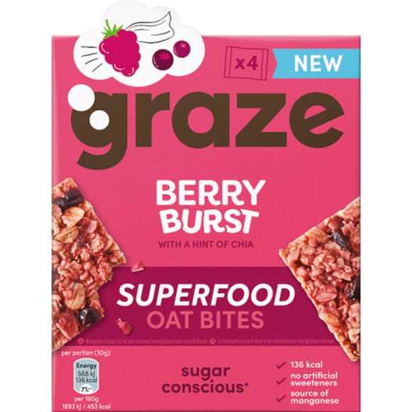 Graze Berry burst oat bites product photo