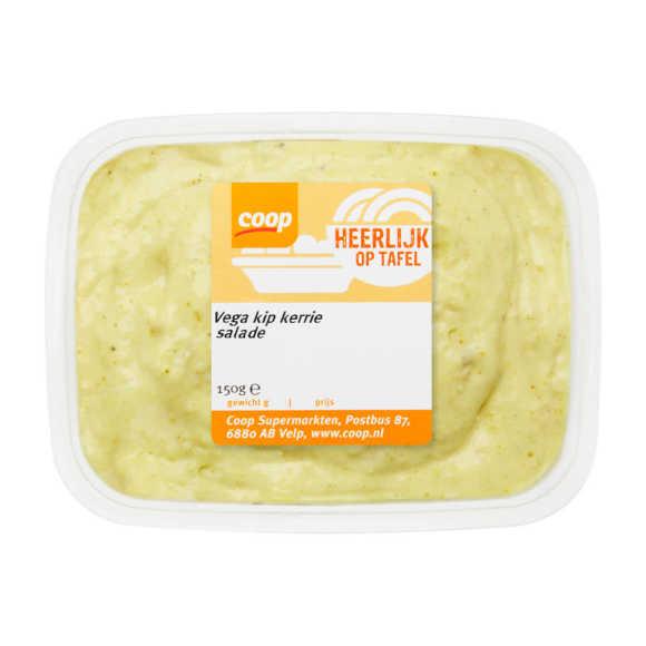 Vega kip kerrie salade product photo
