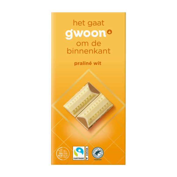 g'woon Chocolade wit met praline product photo