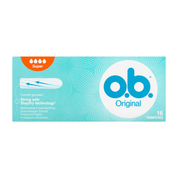 O.B. Tampons super organic cotton product photo