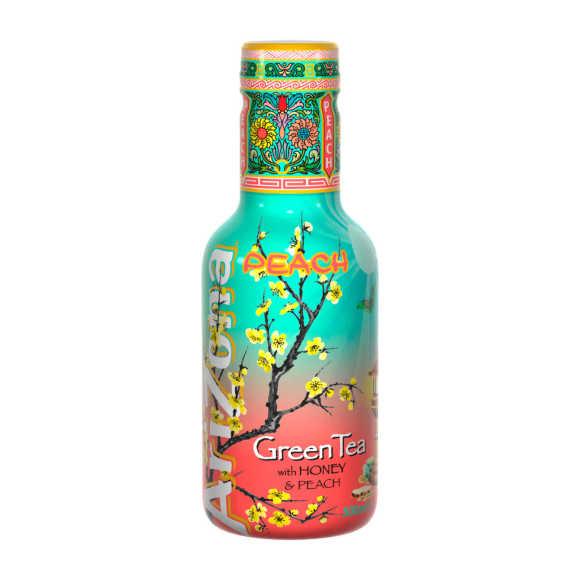 Arizona Green tea peach product photo