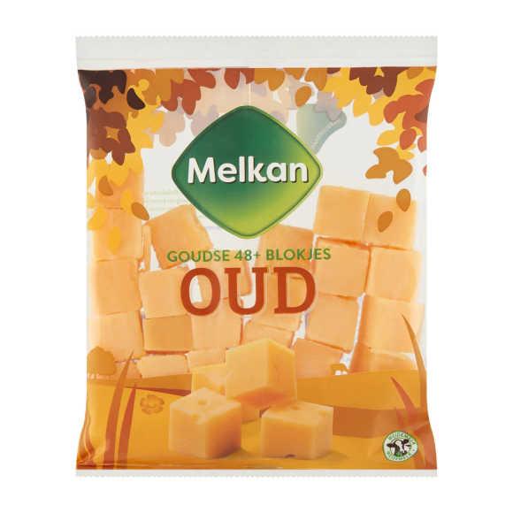 Melkan Goudse 48+ Blokjes Oud Kaas 200 g product photo