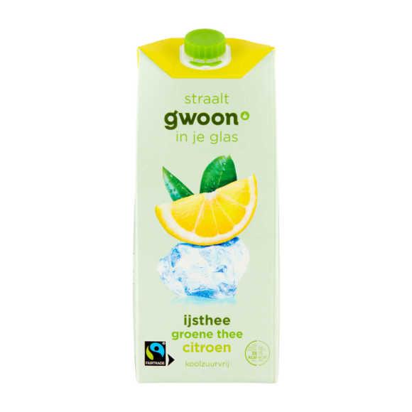 g'woon IJsthee groen citroen product photo